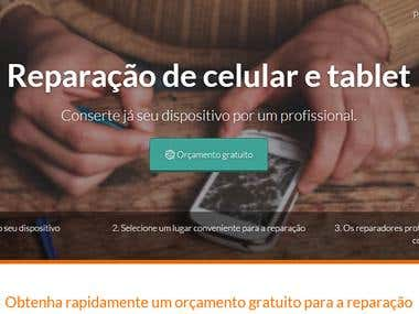 Phonehubs website (EN > PT-BR)