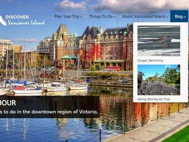 WordPress site for tourism consultation company.