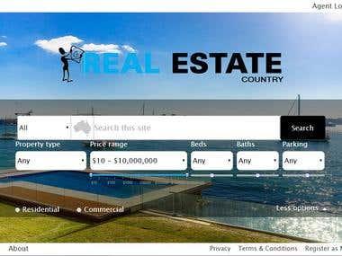 Real Estate Website for Australian client