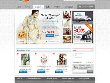 Website for Fashion & Women Jewellery