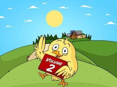 Chicken Weebus Farm Illustration