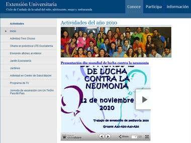 Website for Extension Universitaria