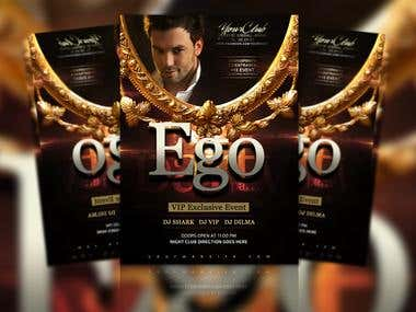 Ego Party Flyer Template