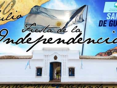 Argentina Independence Day Banner