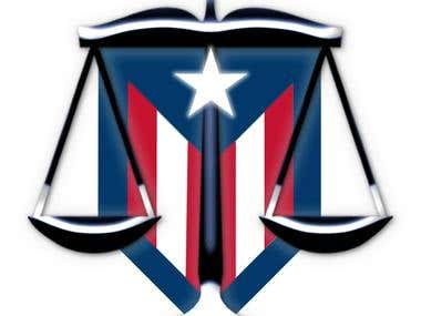 Logo for a lawyer company in Puerto Rico