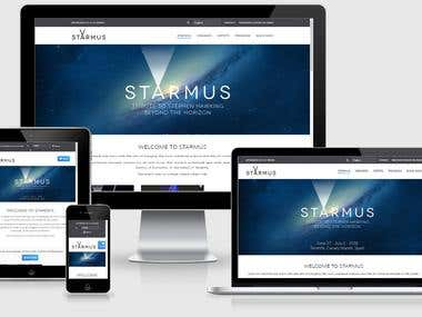Project Manager for the new Starmus Festival webpage