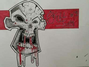 Random skull illustration
