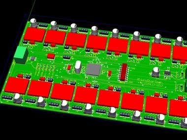 High speed RS485 based Stepper motor PCB