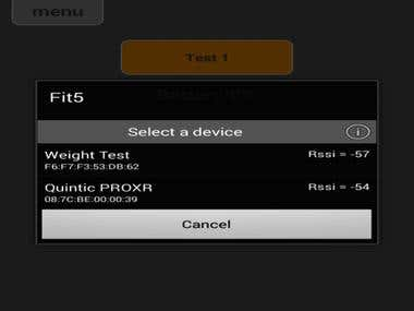 Android App for weight scale with Bluetooth Low Energy