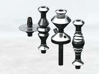 Aluminium Hookah (aka. waterpipe, arghila, shisha)