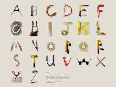 Desk typography