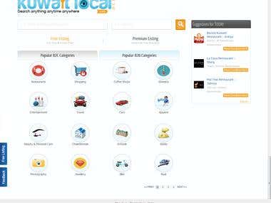 Full Website Testing - KuwaitLocal - FrontEnd and BackEnd