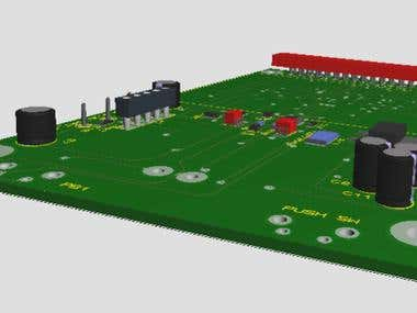 Designed PCB with 3D modeling