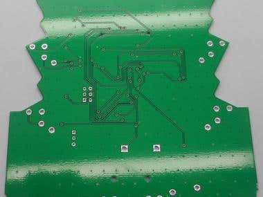 PCB design on Audio controller with RS485