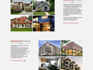 Website for a real estate company