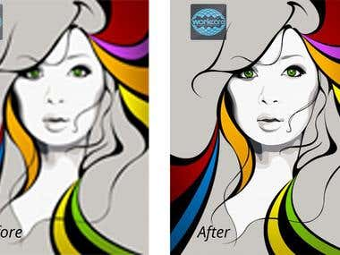 I will do high quality Vector trace and redraw for within 24