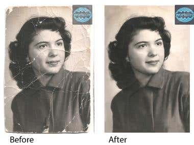 I can do Old Photo Repair and  Old Photo Restoration