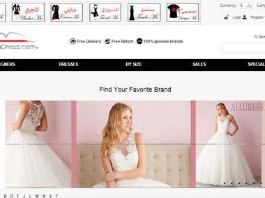 Multi Store Opencart Website Riyadhdress.com