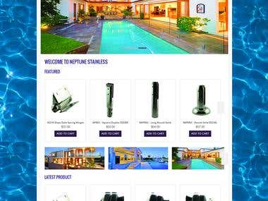 Neptune Stainless - WordPress Woocommerce website