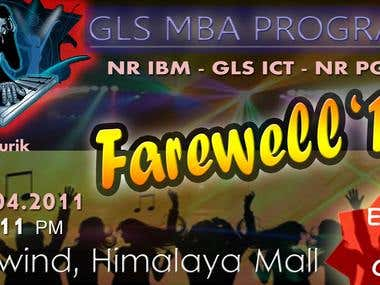 A Invitation Card for College Farewell Party