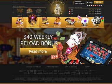 Website Design Online Casino