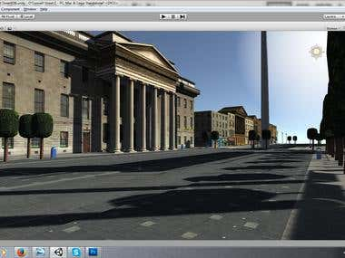 Unity - 3DS Max - Environment - Dublin Ireland