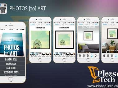 Photos to Art iOS App