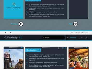 PSD Design for Blog