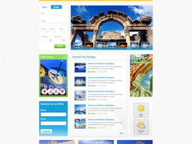 Custom Social Network and Travel Website Template