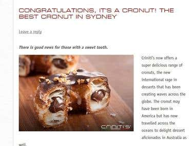 A blog post on cronuts