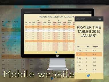 Mobile website (Baitul Aman Mosque and Cultural Centre)