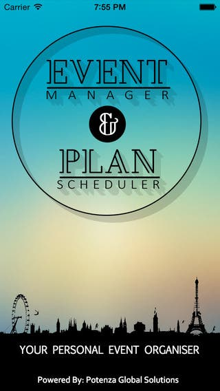 Event Manager and Plan Scheduler iPhone & Android App