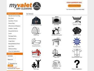 My Valet Ecommerce site using Joomla