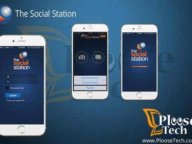 The Social Station app  > iOS & Android both!