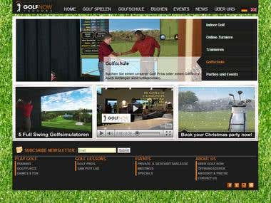 Golf Web Portal