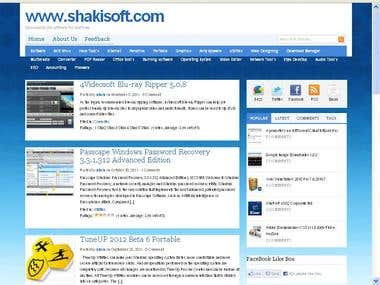 Developed My personal Blog Shakisoft