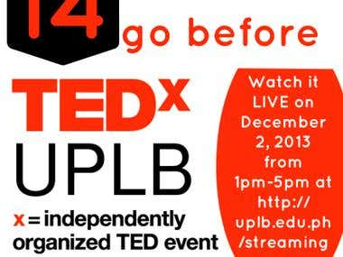 TEDxUPLB event promotion