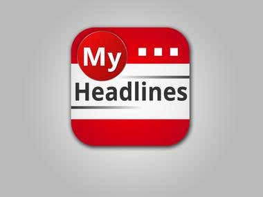 MyHeadlines iPhone Icon