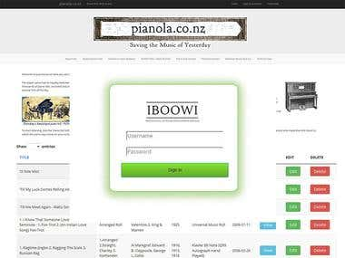 pianola.co.nz Website.
