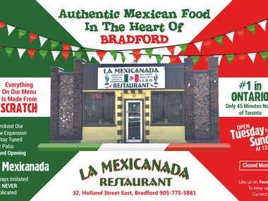 Design an Advertisement for Mexican Restaurant