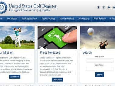 US GOLF Register