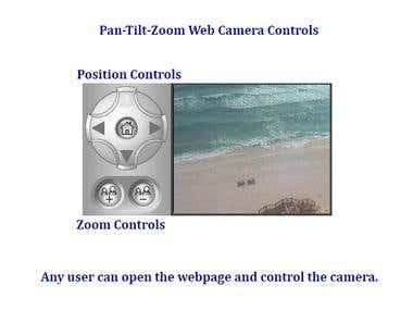Pan-Tilt-Zoom Web Camera Controls