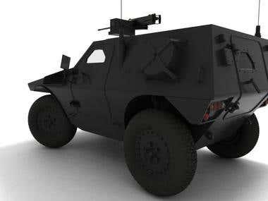 Panhard VBL 3D modeling