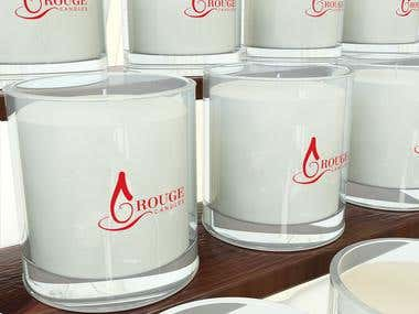 "Logo Design for ""Rouge Candles\'"