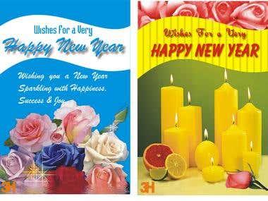 Happy New Year / Birthday Cards