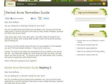 acneherbs WordPress Blog