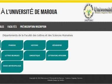Plate forme d\'inscription en ligne Université de Maroua