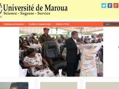 Site Web de l\'Université de Maroua