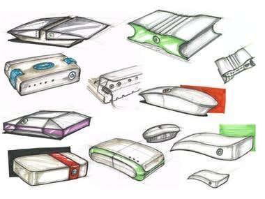 Hi-Fi amplifier concept sketches