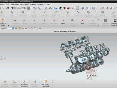 V8 engine animation